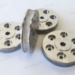 Stainless steel drive wheels with knurling finish for Oil & Gas, cnc machining Perth